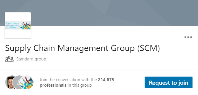 Supply Chain Management Group (SCM)